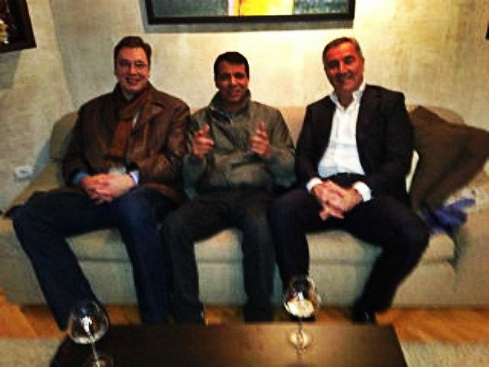 De gauche à droite : Aleksandar Vucic, Mohammed Dahlan et Milo Djukanovic