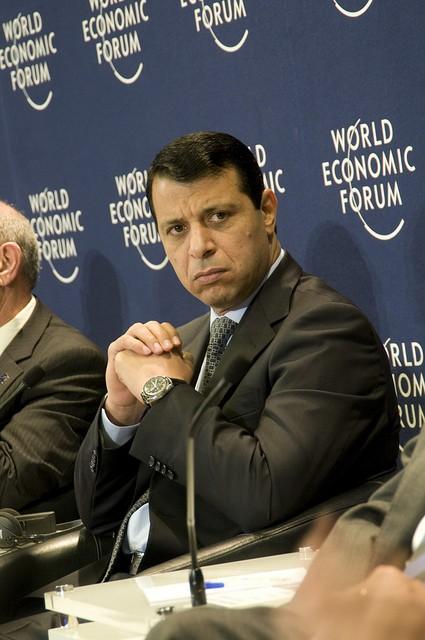 Mohammed Dahlan au Forum économique mondial, à Marrakech, en 2010.