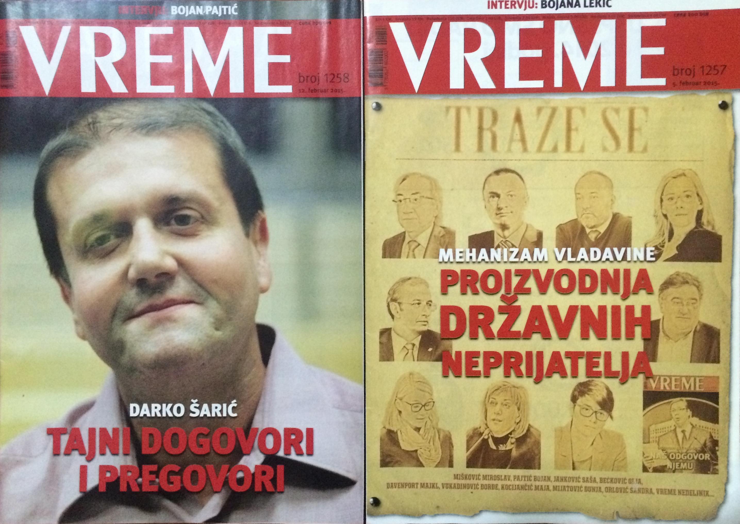 Vreme est un des seuls hebdomadaires serbes à oser critiquer le Premier ministre.