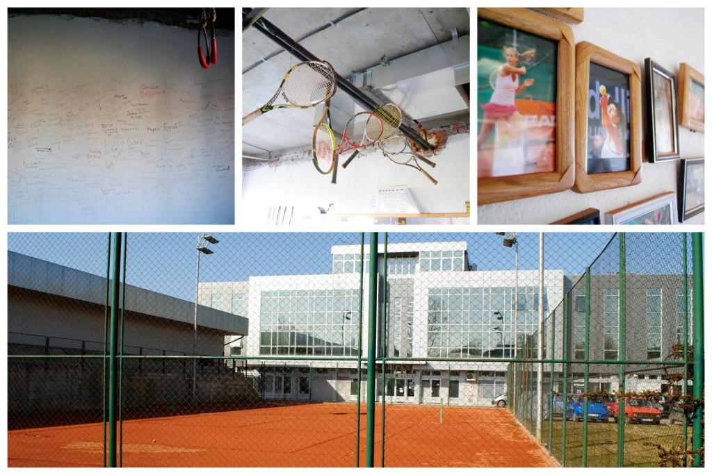 Les installations de l'académie de tennis de Novi Sad