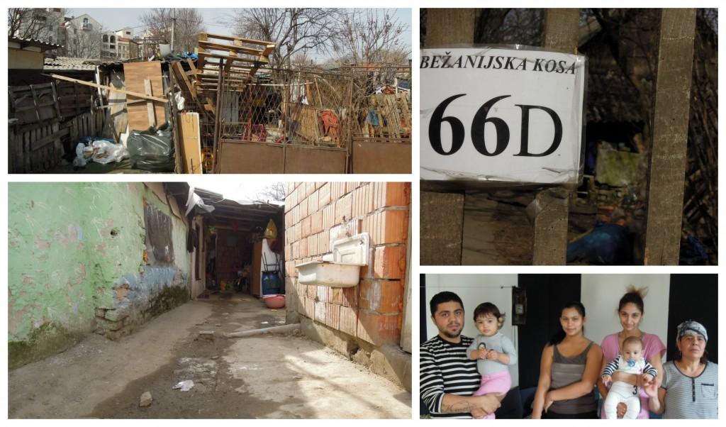 Bidonville de Bežanijska Kosa composé notamment de réfugiés du Kosovo