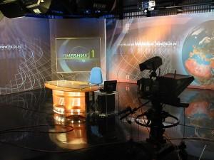 Le plateau du journal télévisé de la RTS.